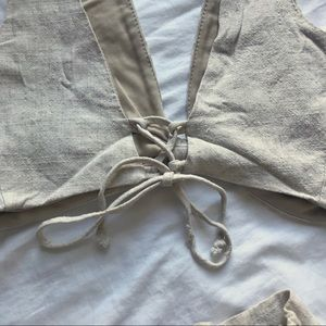 Windsor Dresses - Cream Linen matching set